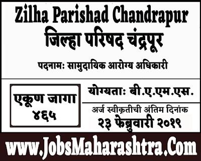 ZP Chandrapur Recruitment 2019