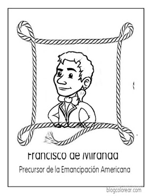 Dibujos de Francisco de Miranda colorear