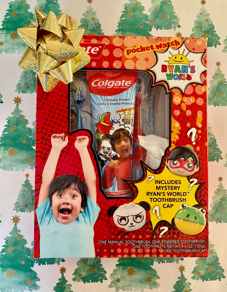 The Colgate Kids Oral Care Pack with Mystery Kid Toy Ryan's World