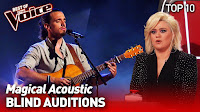 Incredible ACOUSTIC Blind Auditions in The Voice | TOP 10