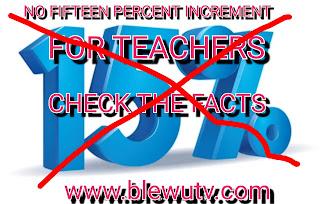 Fifteen percent Increment for teachers