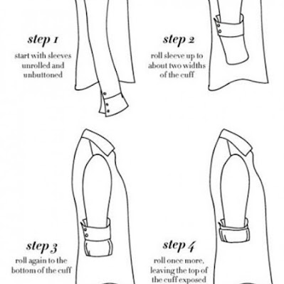 8. KNOW HOW TO ROLL THE SHIRT SLEEVES