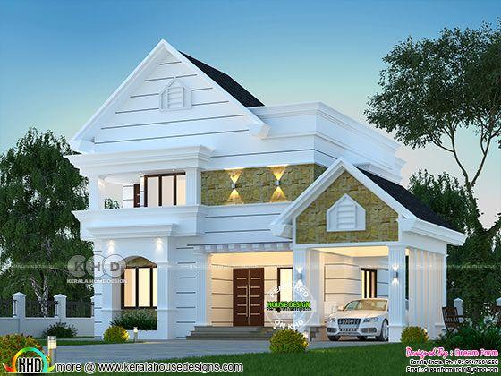 2295 sq-ft 3 bedroom Arabian model house