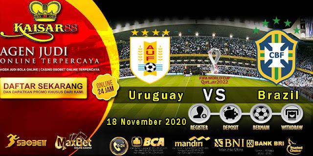 Prediksi Bola Terpercaya Ajang World Cup Uruguay vs Brazil 18 November 2020