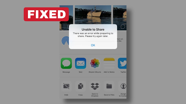 Fix AirDrop unable to share error on iPhone