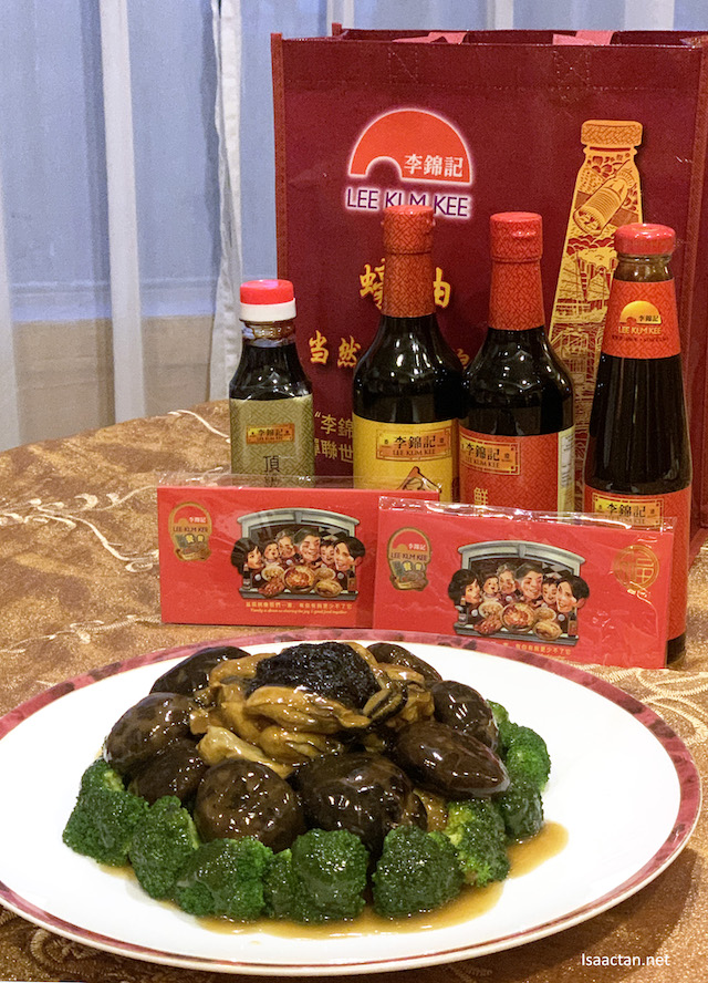 Braised Black Mushroom with Dried Oyster and Sea Moss