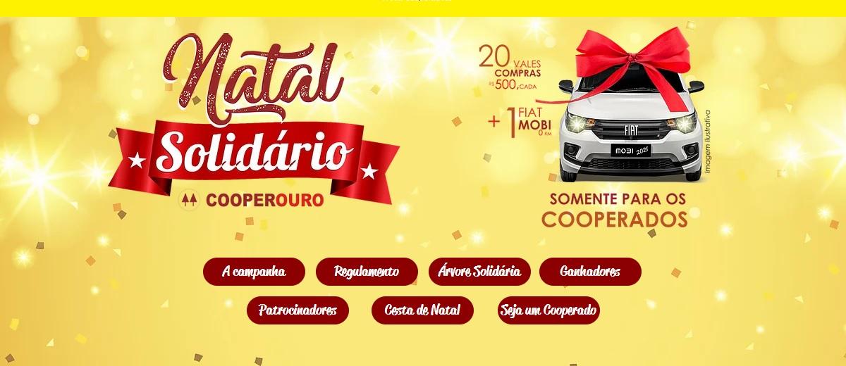 Promoção Cooperouro Natal 2020 Carro 0KM e Vales Compras 500 Reais