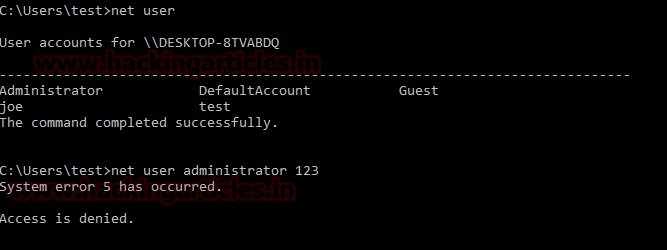 Bypass Admin access through guest Account in windows 10