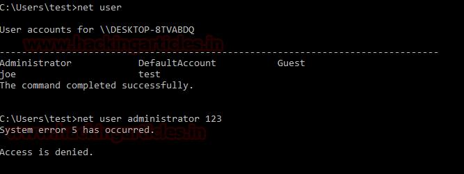 Bypass Admin access through guest Account in windows 10