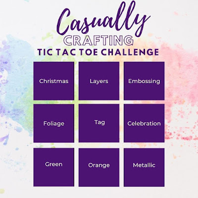 Casually Crafting Blog Hop Tic Tac Toe Challenge