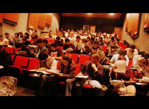 Aspirantes a la UNAL presentando la prueba académica de admisión