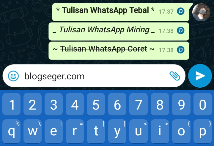 cara membuat tulisan whatsapp miring