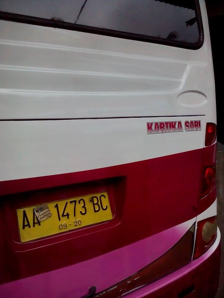 Bus Kartika Sari Bus Travel Lintas Jawa Sumatera Asal