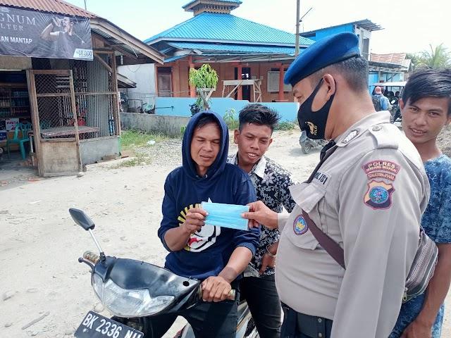 Operasi Yustisi,Sat Pol Air Polres Sergai Himbau Masyarakat Patuhi Prokes