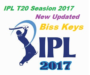 IPL T20 Seasion 2017 New Updated Biss Keys