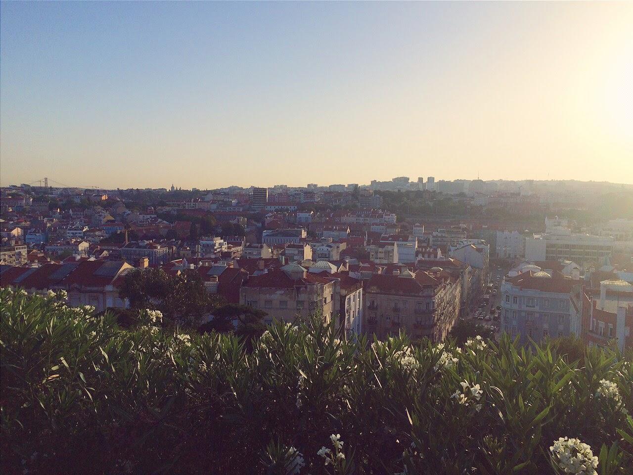 Uitzicht op Lissabon, Portugal