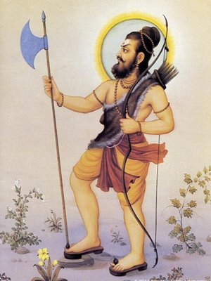 Picture of Lord Parasurama, the sixth Avatar of Lord Vishnu