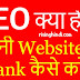 What is SEO(Search Engine Optimization) in Hindi? On-Page and Off-Page 2020