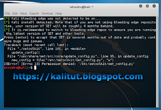 Permission denied: '/etc/setoolkit/set_config.py setoolkit error kali