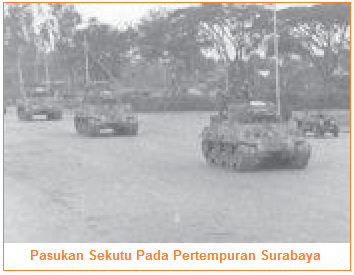 Iring-iringan Sekutu pada 10 November 1945