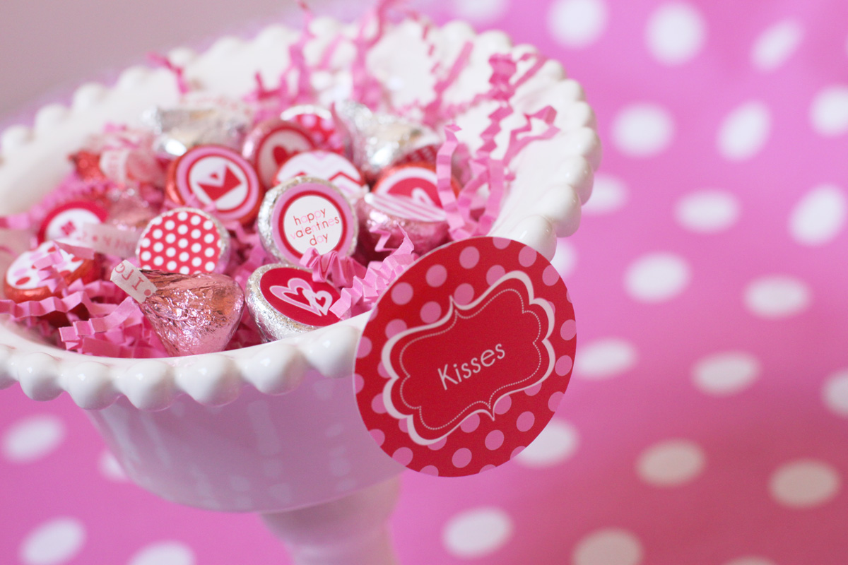 Printable Stickers for Hershey Kisses   just b.CAUSE