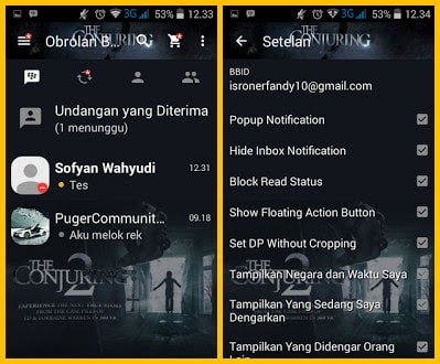 Download BBM MOD Valak The Conjuring 2 v2.13.1.14 Apk