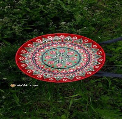 لوحة للفنانة حوراء علاونه Mandala art