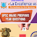 La Ex UPSC Mains Topic Wise Previous Year Questions pdf Notes