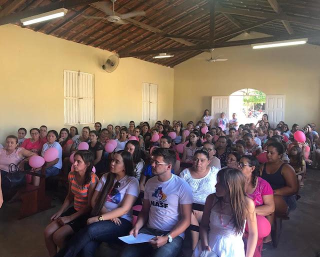 PSF I de Riacho dos Cavalos Realizou Evento de Encerramento da Campanha Outubro Rosa
