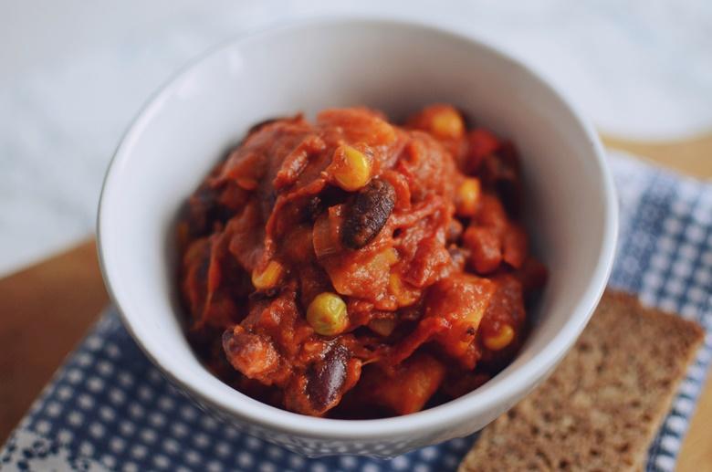 Chili con carne vegetarijanski recept
