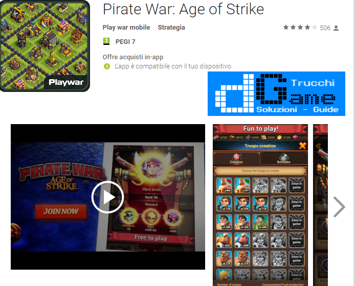 Trucchi Pirate War: Age of Strike Mod Apk Android v1.0.5