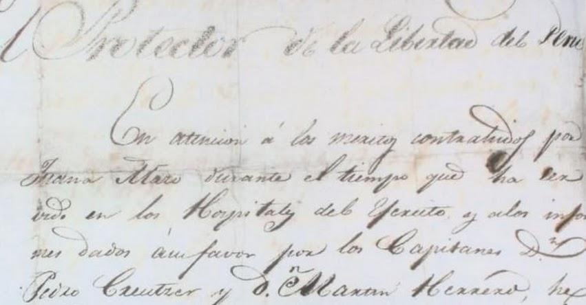 Investigan pérdida de histórico manuscrito de Don José de San Martín del Archivo General de la Nación