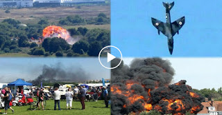 Πτώσης αεροσκάφους, Hawker Hunter, Shoreham Airshow, Αγγλία, Video