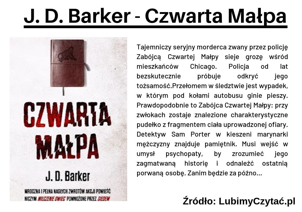 J. D. Barker - Czwarta Małpa, Cykl książkowy, Marzenie Literackie
