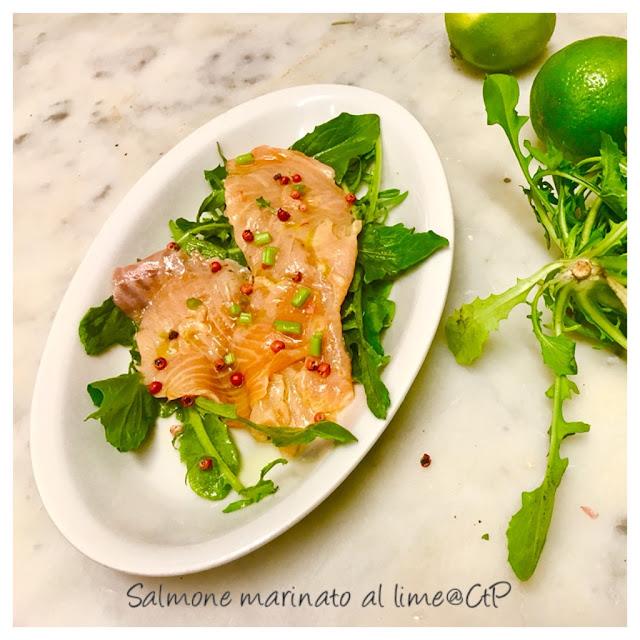 salmone marinato al lime pepe rosa cicorietta alessandra ruggeri cuoca a tempo perso chef