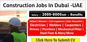 Wanted For Planning Engineer, Accountant,  Electrical Engineer,  Mechanical Engineer, Civil Engineer, General Foreman, General Foreman, MEP Foreman, Purchase Assistant, Carpenter Construction Company – Fujairah