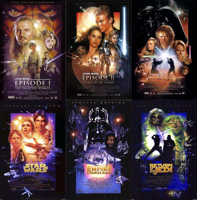 Resultado de imagen para star wars all episodes