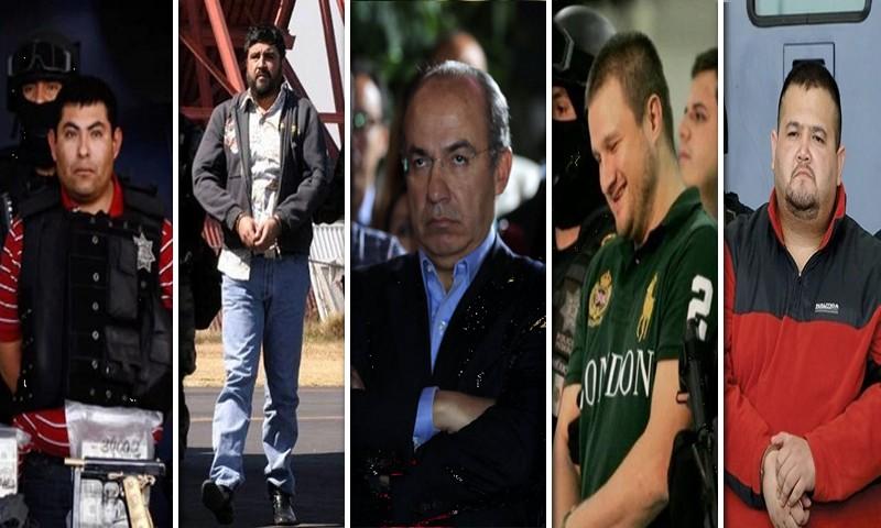 """Calderón ahora teme por su vida: estos son los Narcos más peligrosos que cayeron en la supuesta """"guerra contra el narco"""""""