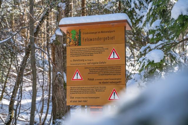 Rundweg Felswandergebiet  Wandern im Nationalpark Bayerischer Wald 25