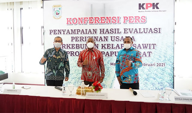 KPK Dukung Pemprov Papua Barat Evaluasi Tata Kelola Perizinan Perkebunan Kelapa Sawit
