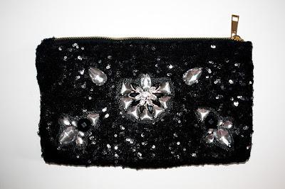 Bolso joya negro de pedrería y lentejuelas
