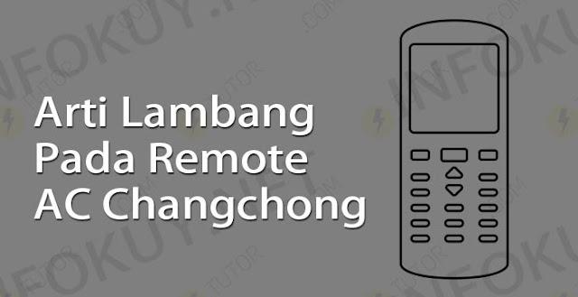 arti lambang pada remote ac changhong