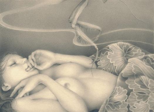 by Ozabu, 堀川 (Horikawa), 2019 | imagenes dibujos de mujeres a lapiz | soledad, tristeza, depresion femenina | deep emotional sad woman art
