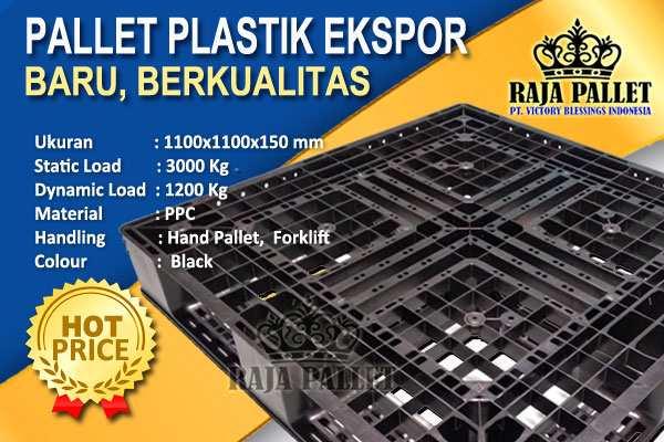 Jual Pallet Plastik Baru Ukuran 1100 x 1100 x 150 mm Harga Terjangkau