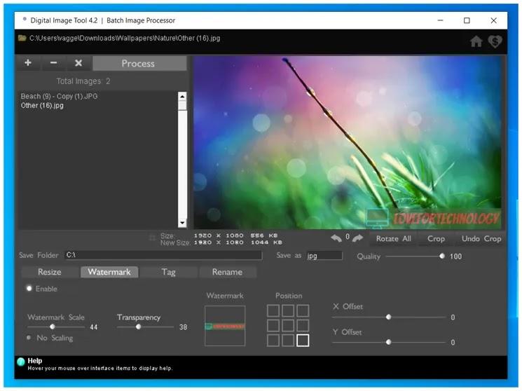 Digital Image Tool : Προστατεύσετε τις φωτογραφίες σας με  υδατογράφημα