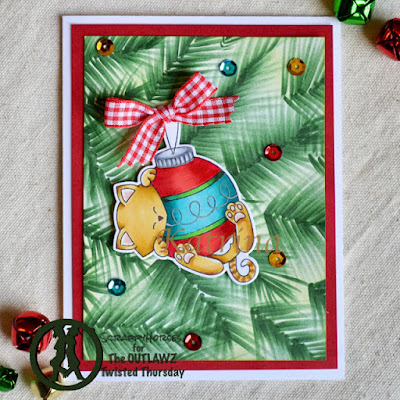 Scrappy Horses's card features Ornamental Newton from Newton's Nook Designs; #newtonsnook, #cardmaking, #christmas