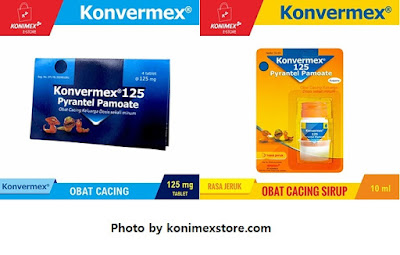 Varian Konvermex obat cacing