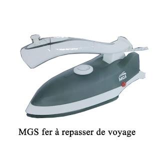 Mgs Fer à repasser de voyage mgs