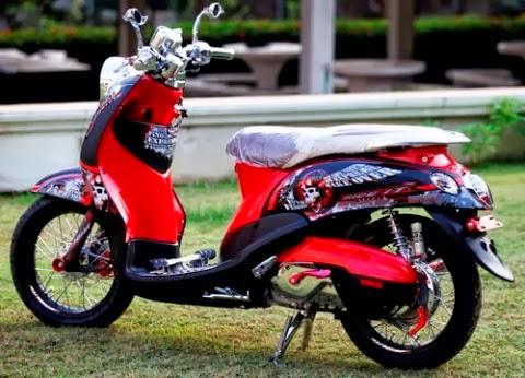 modifikasi motor yamaha fino classic
