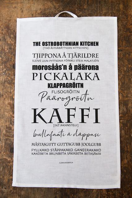 kökshandduk dialekthandduk Dialekt dialektposter dialekttavla österbotten